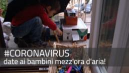 coronavirus: date ai bimbi mezz'ora d'aria