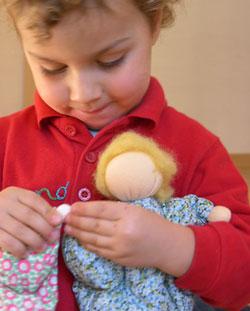 bamboline di lana fatte dalla mamma