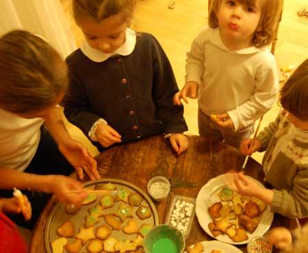 fare i biscotti con i bambini