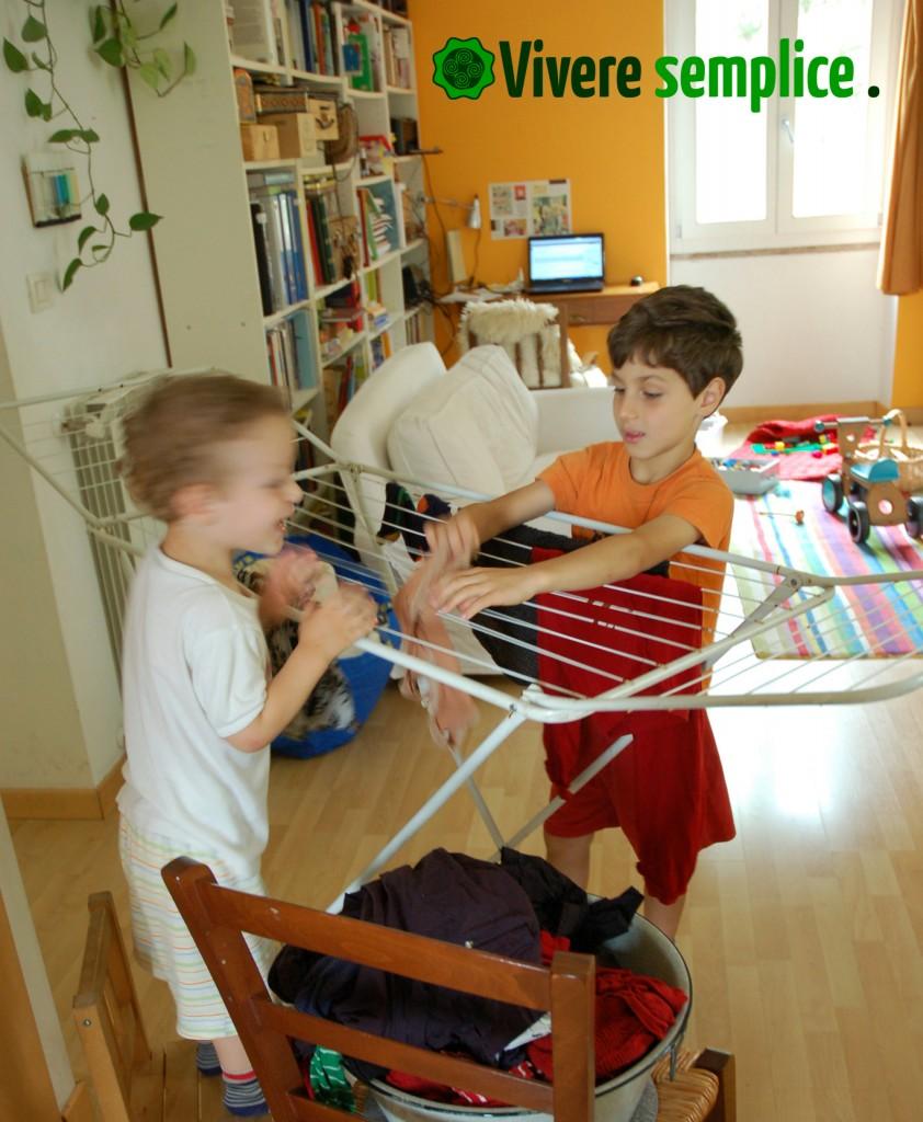 lavori di casa con i bambini