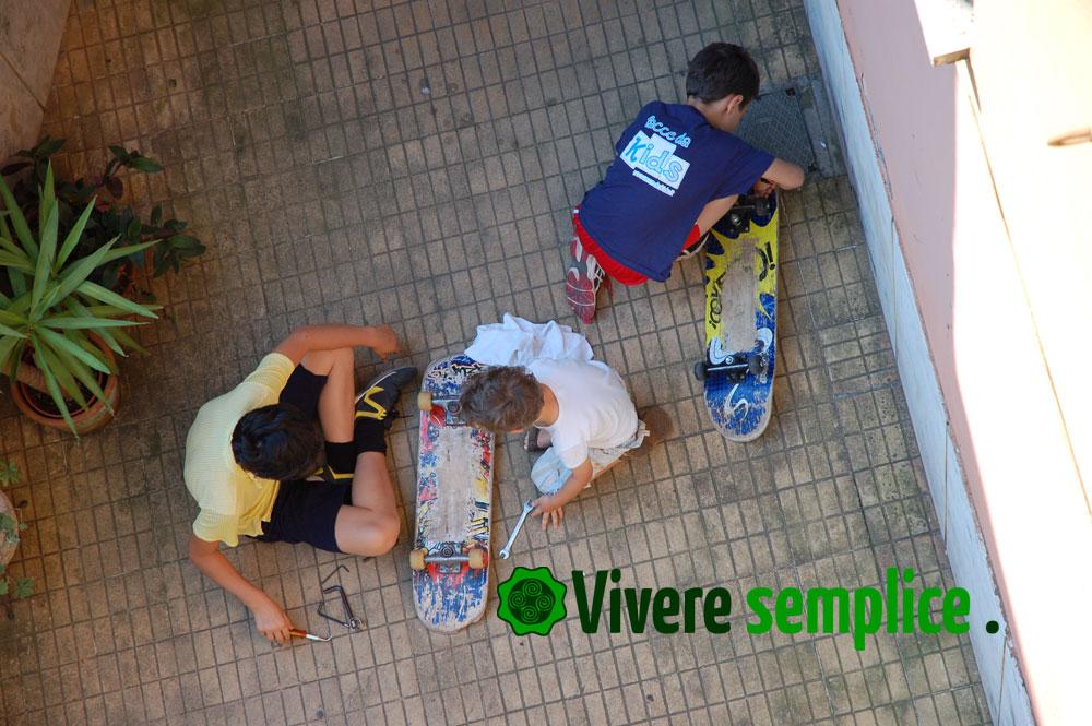 skateboard in riparazione