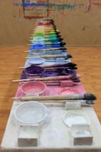 tavolozza grani di colore