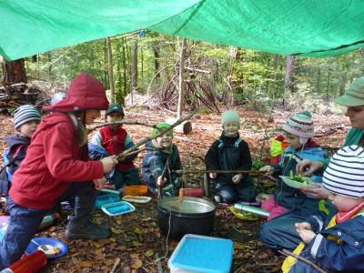 wakita asilo nel bosco in Svizzera